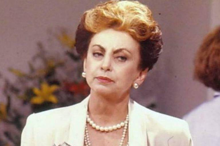 Beatriz Segall (1926-2018) em cena como a vilã Odete Roitman, de 'Vale Tudo'