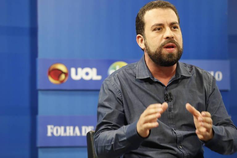 Guilherme Boulos, candidato à presidência pelo PSOL participa de sabatina promovida por Folha, UOL e SBT