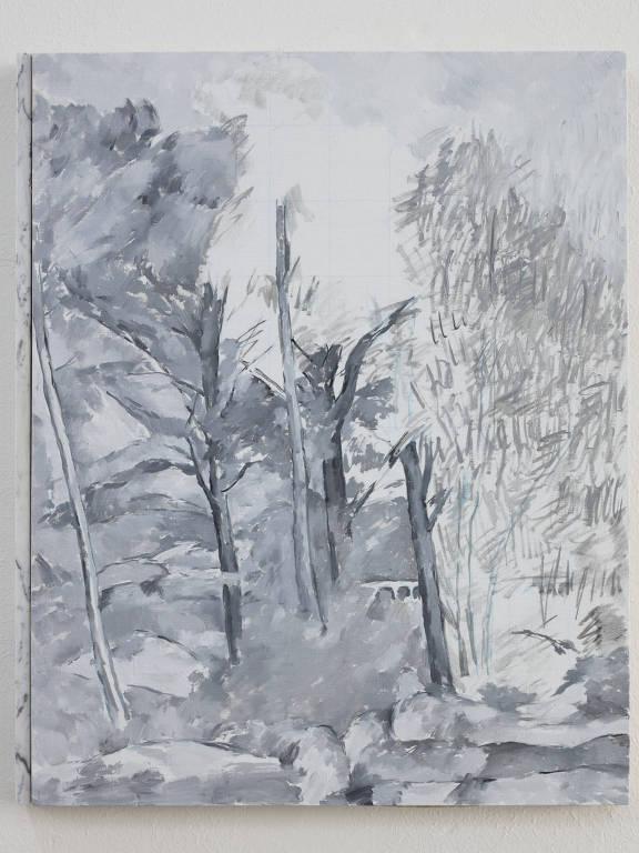 quadro em cinza e branco