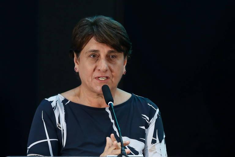 Eliana Pedrosa (Pros), que lidera a corrida para o governo do Distrito Federal