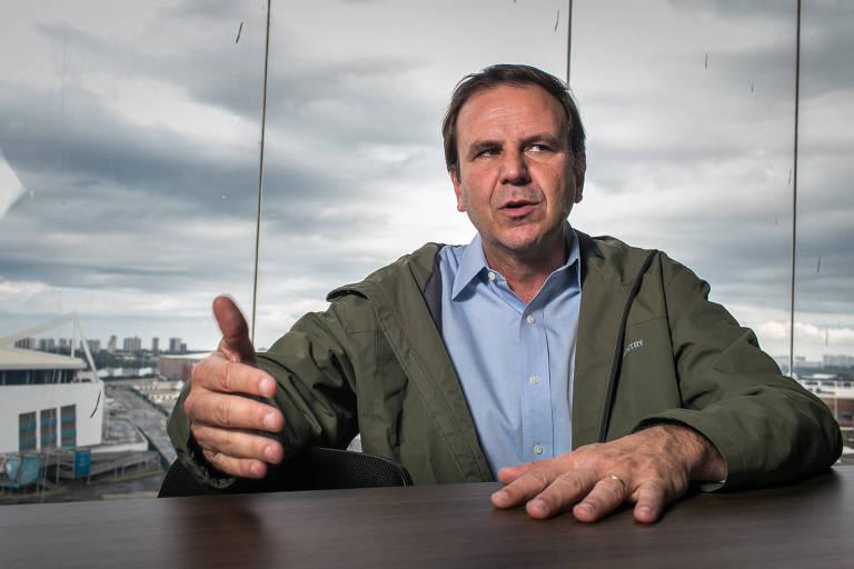Eduardo Paes, candidato ao governo do Estado do Rio pelo DEM em entrevista para a Folha