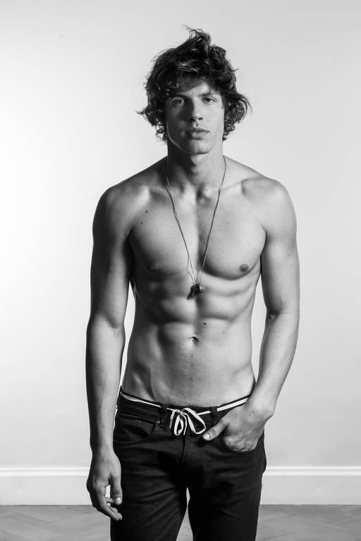 Bruno Facchini, o modelo e filho da atriz Luiza Tomé