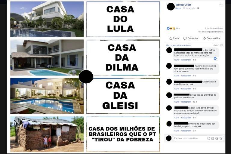 Comprova: Não há evidências de que Lula seja dono de mansão que aparece em meme
