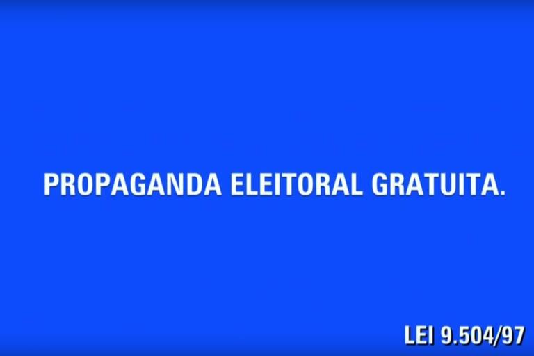 imagem exibida no horário eleitoral gratuito