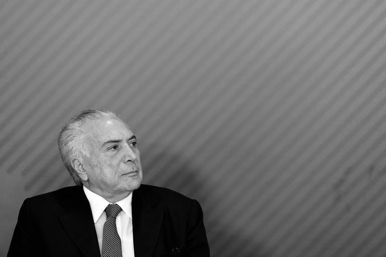 O presidente da República, Michel Temer, durante evento no Palácio do Planalto, em Brasília