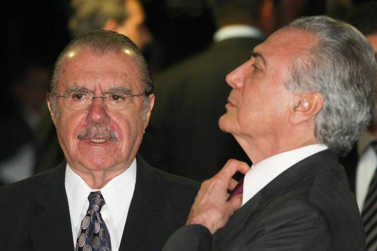 José Sarney e Michel Temer, quando comandavam, respectivamente, o Senado e a Câmara, em 2009