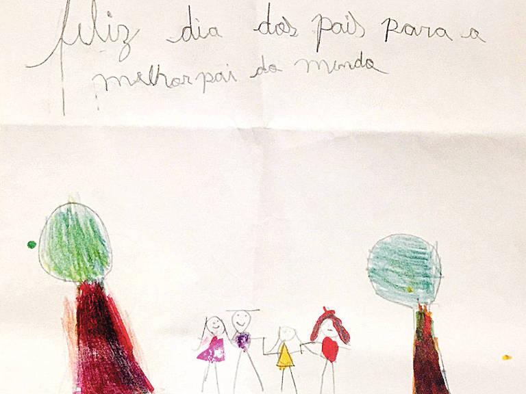 Desenho de Manuela Araujo Gama, de oito anos