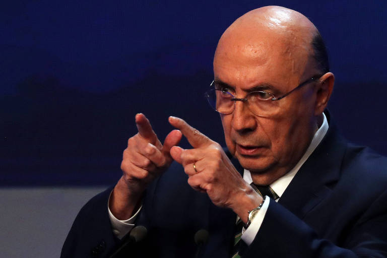 Presidential candidate Henrique Meirelles of the Brazilian Democratic Movement (MDB) attends the first television debate at the Bandeirantes TV studio in Sao Paulo