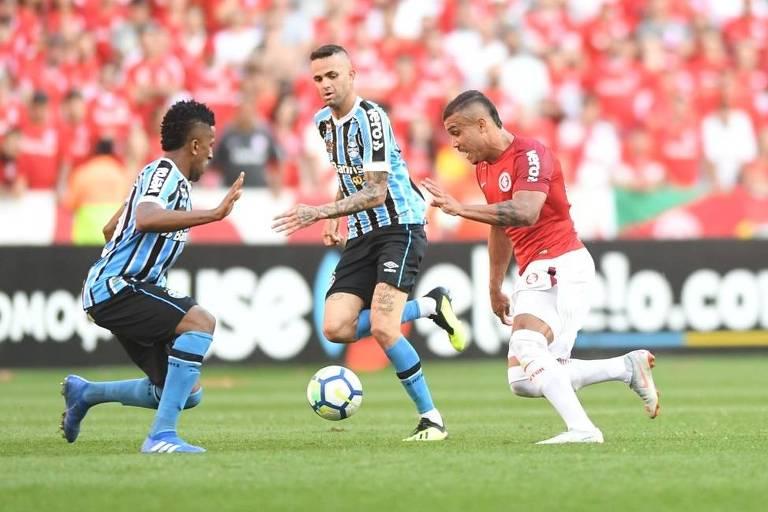 Inter venceu o Grêmio no Gre-Nal deste domingo (9) e retomou a liderança do Brasileiro