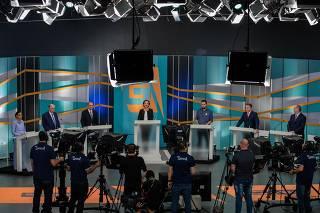 Debate dos candidatos à Presidência da República, no estúdio da TV Gazeta