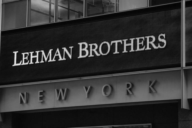 Fachada do banco Lehman Brothers, em 2008