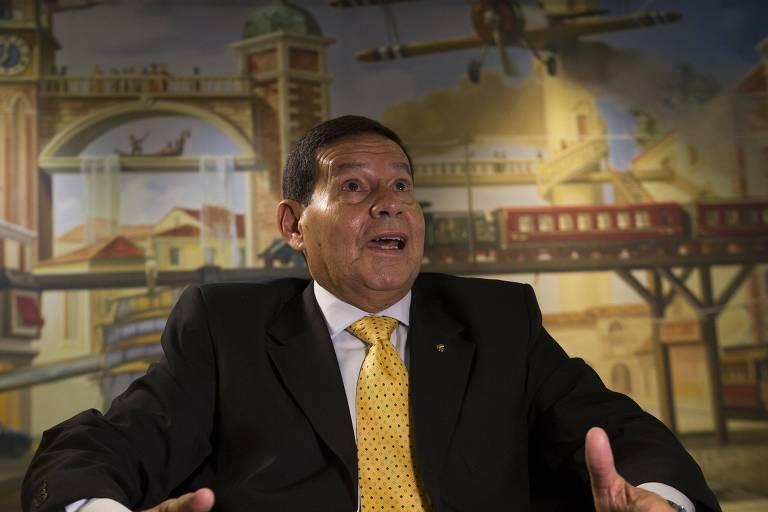General Hamilton Mourão, candidato a vice na chapa de Jair  Bolsonaro.