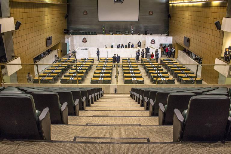 Em sessão simbólica, foi aprovada a CPI para investigar as merendas das escolas estaduais, no plenário da Assembleia Legislativa do Estado de São Paulo