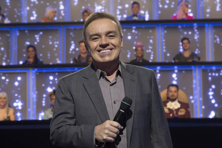 """Gugu Liberato, apresentador do """"Canta Comigo"""" (Record)"""