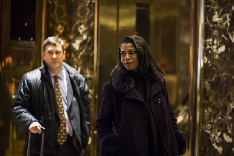 Omarosa Manigault Newman at Trump Tower in New York