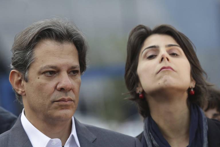 Fernando Haddad e Manuela d'Avila, candidatos à Presidência e vice, respectivamente, pelo PT