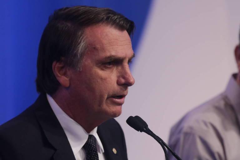 O presidenciável Jair Bolsonaro (PSL)