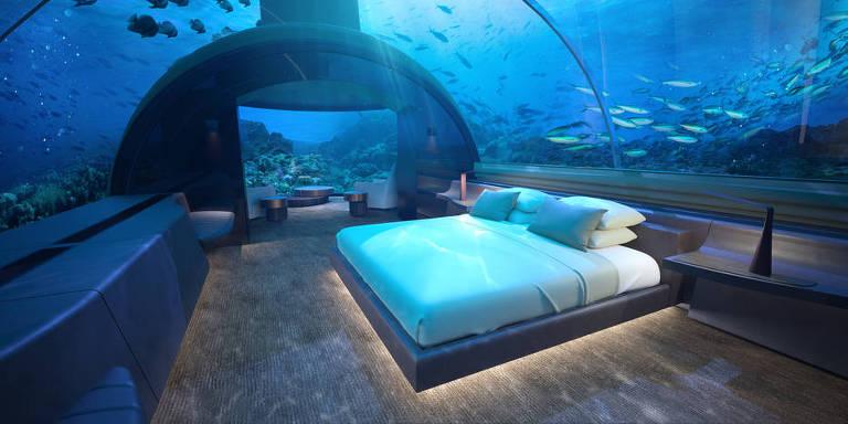 Cinco hotéis submersos