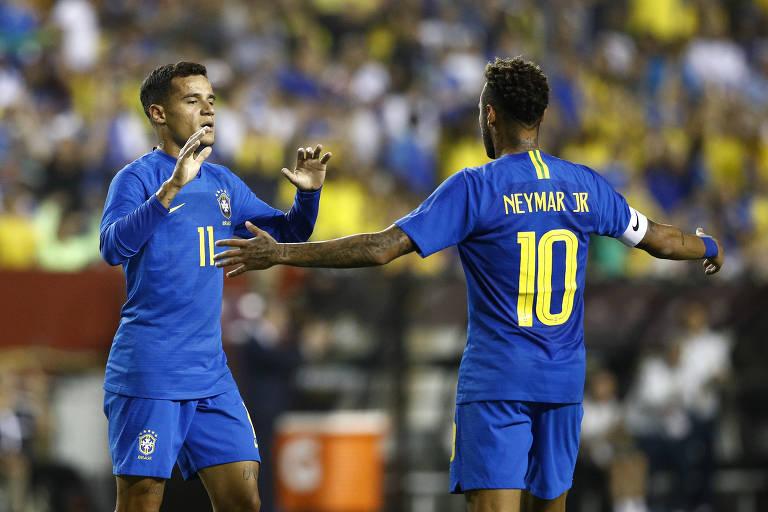 Seleção brasileira goleia El Salvador em amistoso