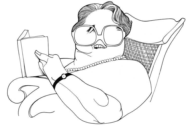 Caricatura da escritora Rachel de Queiroz