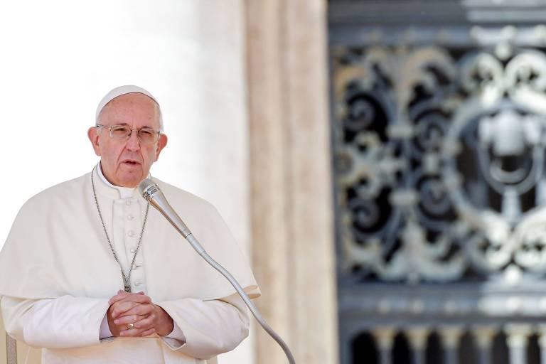 O papa Francisco em uma audiência no Vaticano