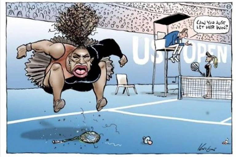 Acusado de racismo por cartum sobre Serena, desenhista se defende