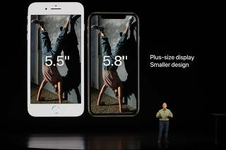 Schiller Senior Vice President, Worldwide Marketing of Apple, speaks about the the new Apple iPhone XS at an Apple Inc product launch in Cupertino