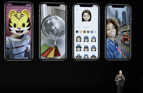 Kaiann Drance, Apple's senior director, iPhone Worldwide Product Marketing, speaks about the Apple iPhone XS at the Steve Jobs Theater during an event to announce new Apple products Wednesday, Sept. 12, 2018, in Cupertino, Calif. (AP Photo/Marcio Jose Sanchez) ORG XMIT: NVJL215