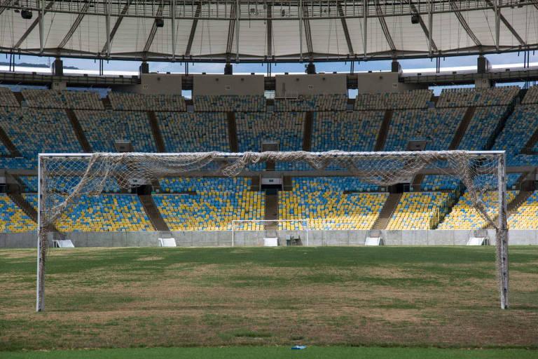 Em janeiro de 2017, pouco tempo após as Olimpíadas, o gramado do Maracanã se encontrava em péssimo estado
