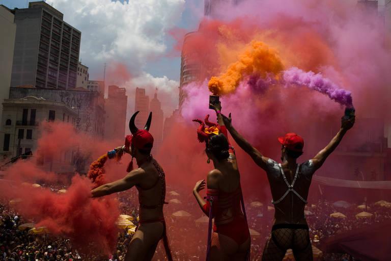 O Bloco Tarado Ni Você se apresenta no Carnaval paulistano