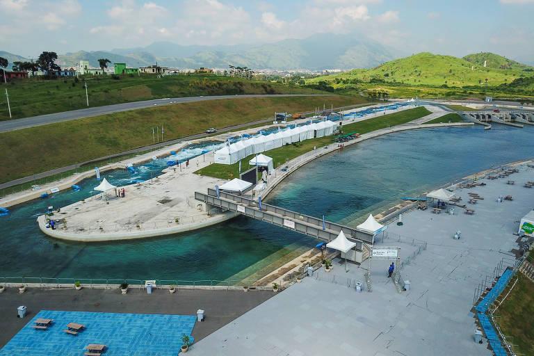 Complexo esportivo de Deodoro, no Rio de Janeiro, que receberá o Mundial de canoagem
