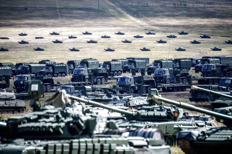 Exercícios militares da Rússia