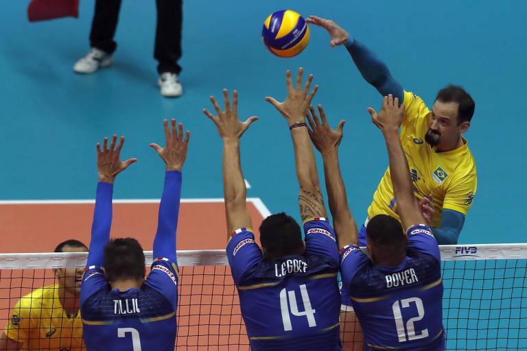Lipe, da seleção brasileira de vôlei