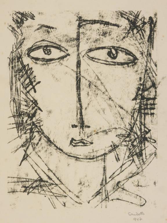 desenho de rosto a lápis