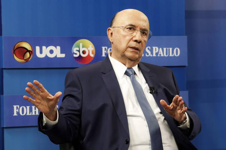 Henrique Meirelles (MDB) participa de sabatina promovida em parceria entre Folha, UOL e SBT com os candidatos a presidente
