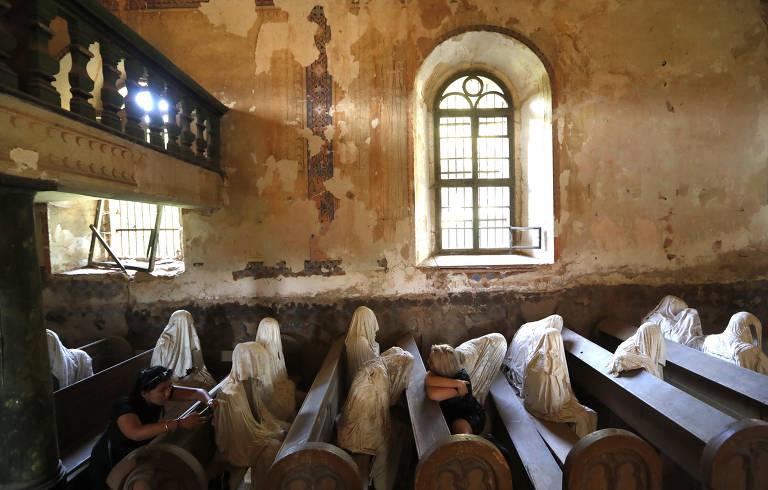 'Igreja fantasma' em Lukova, na República Tcheca