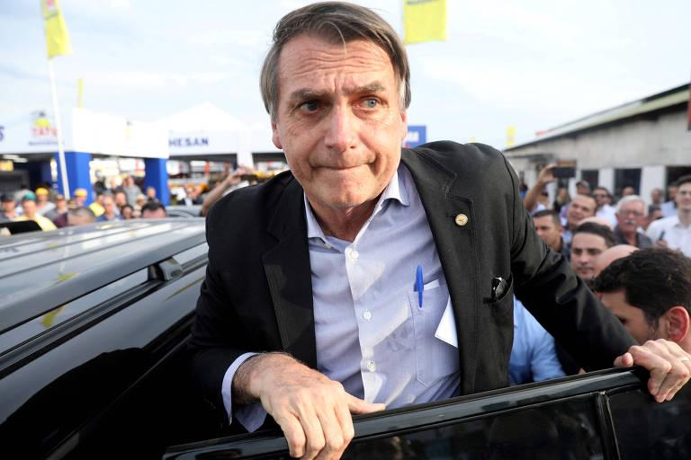 O candidato Jair Bolsonaro (PSL), que lidera as pesquisas de intenção de voto para a Presidência