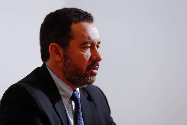 Presidente do BNDES, Dyogo Oliveira, durante entrevista à Folha em seu gabinete, em Brasília