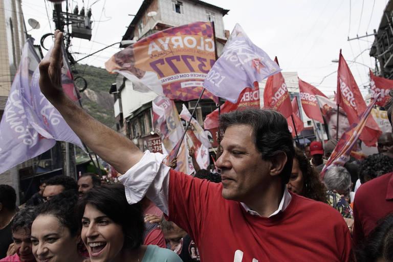 Candidato à Presidência pelo PT, Haddad fez ato de campanha no Rio de Janeiro