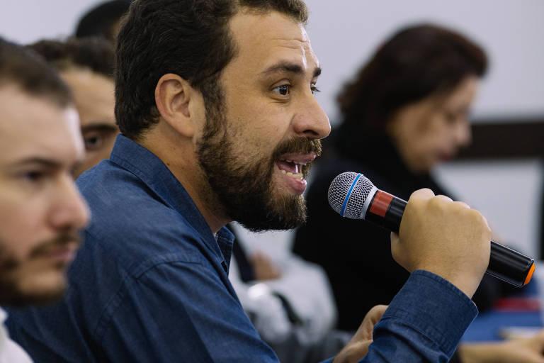 Guilherme Boulos na campanha presidencial de 2018