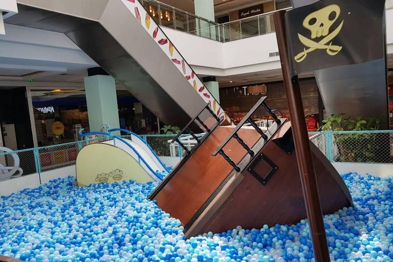 Atração Gigantes do Mar, que chega ao Atrium Shopping, em Santo André