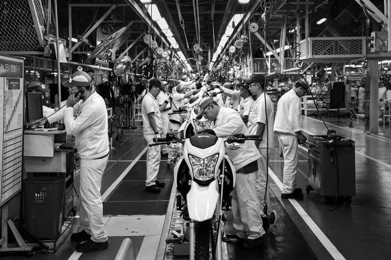 Linha de montagem da Honda na Zona Franca de Manaus