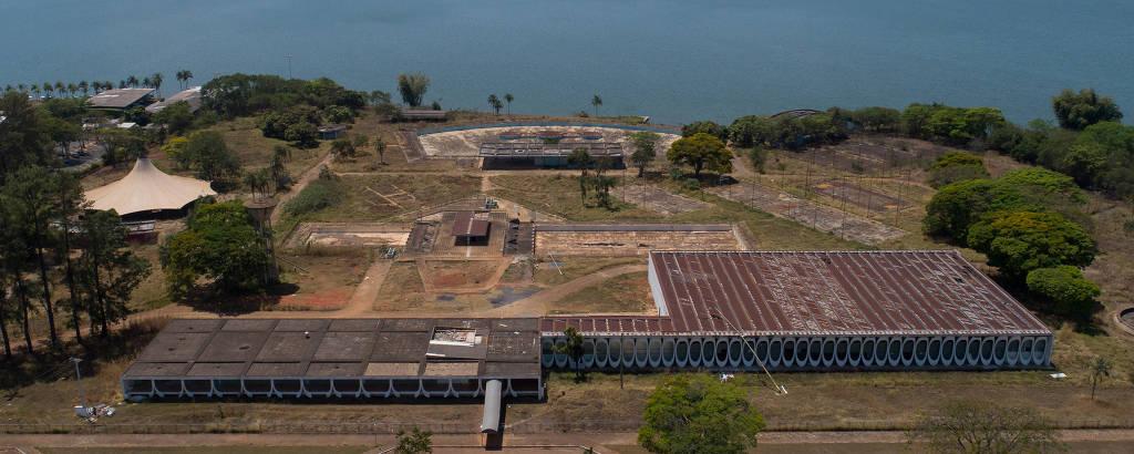Vista aérea do Clube do Servidor, em Brasília, que está desocupado desde 1997
