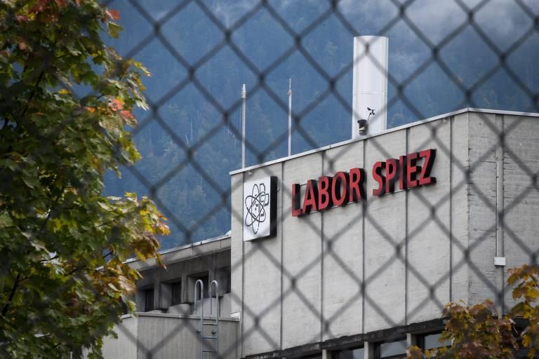 O laboratório Spiez, que analisa as provas coletadas em Salisbury