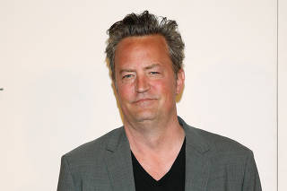 Actor Matthew Perry arrives for 'The Circle' premiere at the Tribeca Film Festival in the Manhattan borough of New York