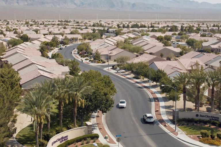 A comunidade Sun City Aliante, no norte de Las Vegas