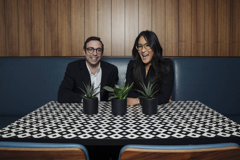 Netflix heads of comedy Robbie Praw and Lisa Nishimura in Los Angeles, Aug. 20, 2018. The executives have helped the streaming giant push by its rivals, Comedy Central and HBO, by signing up A-list talent, turning rising talent into stars and radically expanding the volume of new content. (Brinks+Banks/The New York Times)