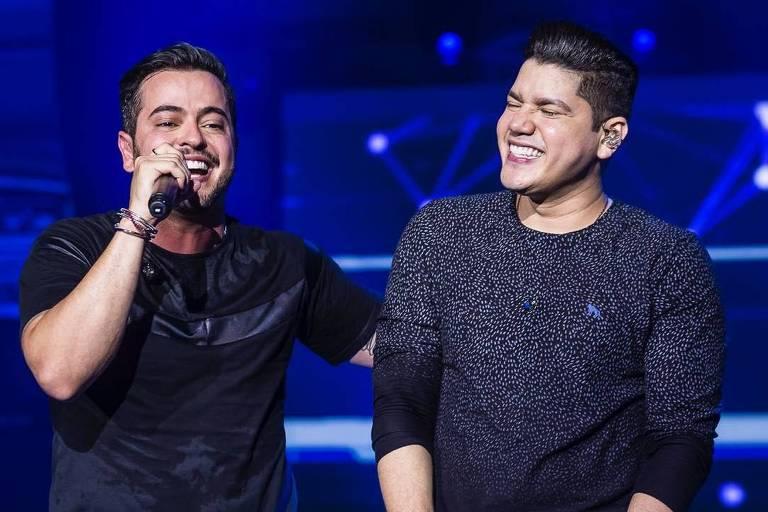 A dupla Henrique e Diego grava DVD no Rio