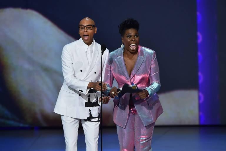 O discurso de RuPaul (E) foi um dos poucos a serem lembrados no Emmy de 2018