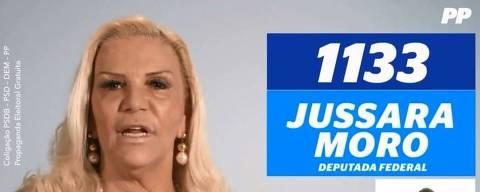A candidata a deputada federal por São Paulo Jussara Moro (PP)